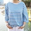 ★韓国ファッション通販業界1位 『Naning9』★先着順 100名様限定大特価!!♥信じられない驚きの大特価♥2016 S/S新作! ハイクオリティ!/シンプルだが、いつも愛されるストライプTシャツ
