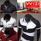 [WIZI]■■NEW■■ Mens stylish Short Sleeve Collar-T ■■  M~3XL Big size / Polo T-shirts Collection