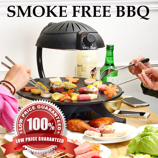 Buy Smokeless Smoke Free BBQ pit Infrared Indoor Electric Roaster ...