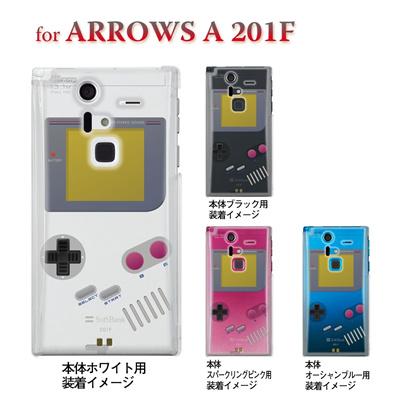 【ARROWS ケース】【201F】【Soft Bank】【カバー】【スマホケース】【クリアケース】【クリアーアーツ】【懐かしのゲーム】 08-201f-ca0075の画像