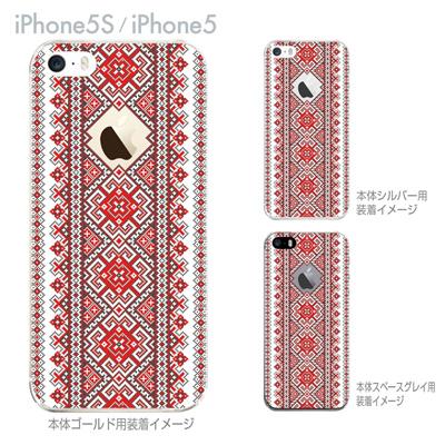 【iPhone5S】【iPhone5】【Clear Fashion】【iPhone5ケース】【カバー】【スマホケース】【クリアケース】【フラワー】【ウクライナ柄】 06-ip5s-ca0073の画像
