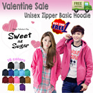 Get Dressed in LOVE ***VALENTINE DAY Sale BUY 1 GET 1 FREE** ALL VARIOUS BASIC UNISEX JACKETS HOODIE ZiPPER VEST V-NECK and VARSITY