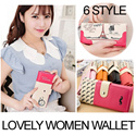 [New Arrival] Korea Hit Women°s ID Cases and wallet /Lovely  long coin wallet/ Cute Cartoon Pattern / Smart multi purse / Korea style designer cute Wallets