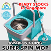 💥Premium Spin Mop💥 STAINLESS STEEL DRUM 💥 Easy Magic SPIN Mop 💥Hands Free Wash 💥 Easy Drying 💥 2016 Award Winning💥 Super Compact Easy Storage ★  Stocks in SG★  Local 100% SG Seller