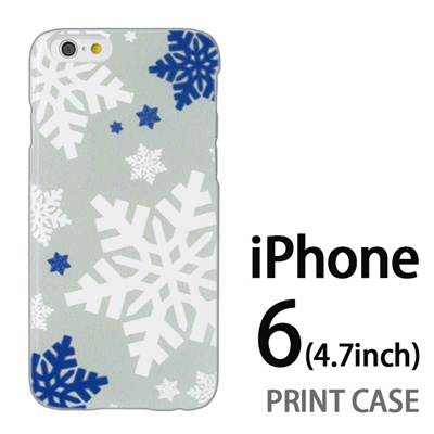 iPhone6 (4.7インチ) 用『1202 雪の結晶 エメラルド』特殊印刷ケース【 iphone6 iphone アイフォン アイフォン6 au docomo softbank Apple ケース プリント カバー スマホケース スマホカバー 】の画像