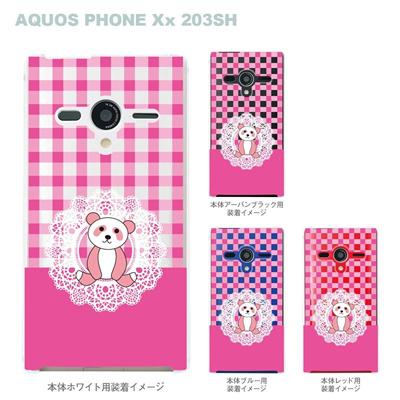 【AQUOS PHONEケース】【203SH】【Soft Bank】【カバー】【スマホケース】【クリアケース】【Clear Fashion】【アニマル】【パンダ】 22-203sh-ca0055の画像
