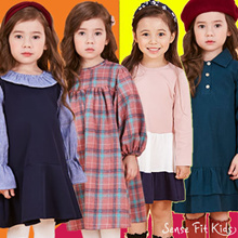 ♥Free Gift♥ Sense Fit Kids Girl dress Childrens Clothing / Free Shipping / Design by Korea