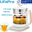 Lifepro Multifunctional Electric Teapot/ Health Glass Teapot/More Choice Besides StoveOven/Kettle/Induction Cooker/Rice Cooker And Lunch box/English Manual A SG Plug