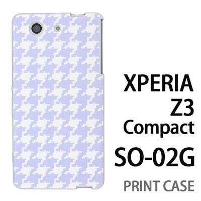 XPERIA Z3 Compact SO-02G 用『0912 千鳥柄 水白』特殊印刷ケース【 xperia z3 compact so-02g so02g SO02G xperiaz3 エクスペリア エクスペリアz3 コンパクト docomo ケース プリント カバー スマホケース スマホカバー】の画像