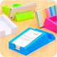 [One Space] Colorful multi use Phone stand / name card holder / phone holder / storage