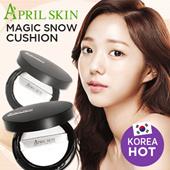 [April Skin] Magic Snow Cushion SPF50+ PA+++ 15g / Magic snow cushion with moisture and coverage Korea cosmetic
