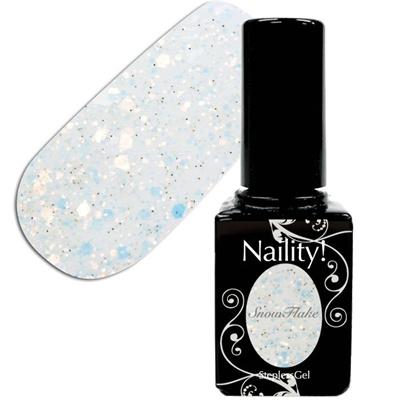 Naility!ステップレスジェル017スノーフレーク7g【YWZS/ソークオフ/カラージェル/ポリッシュタイプ/uvled対応/国産/ジェルネイル/ネイル用品】