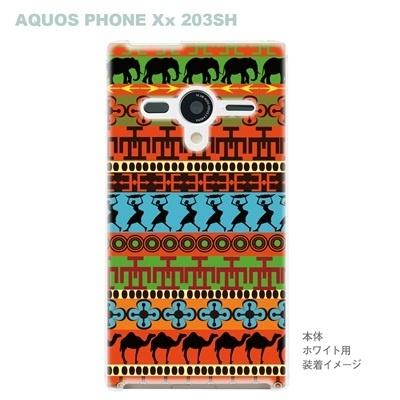 【AQUOS PHONEケース】【203SH】【Soft Bank】【カバー】【スマホケース】【クリアケース】【アフリカンヒーリング】【その他】 09-203sh-af0009の画像