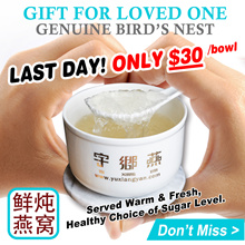 SUPER DEAL * SAVE $8 [ FREE QX Quick ] ★ Freshly Cooked Birdnest 鲜炖燕窝 ★ 1 Bowl ★ Halal Cert