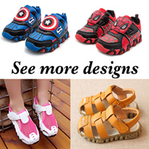 *2016*High quality kids shoes/girls /boys /sandles/footwear/hellokitty/ superhero/superman/spinderman/batman