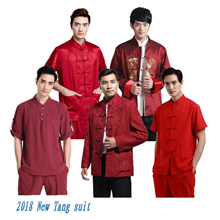 2018 CNY GIFTS! Mens tang suit cheongsam / CNY / Tangyu / traditional suit / short sleeve / long sle