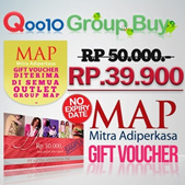 [Group Buy EVENT] Free MAP Voucher Rp50000! Hanya Rp.39900 ~