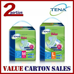 [VALUE M FREE 8PCS][READY STOCK][USE COUPON][FREE SHIPPING] TENA VALUE ADULT DIAPERS