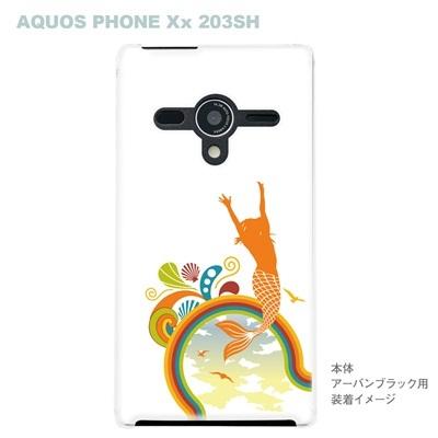 【AQUOS PHONEケース】【203SH】【Soft Bank】【カバー】【スマホケース】【クリアケース】【夏のパラダイス】 08-203sh-ca0071の画像
