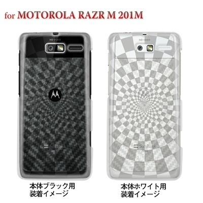 【MOTOROLA RAZR 201M】【201M】【Soft Bank】【カバー】【スマホケース】【クリアケース】【チェック・ボーダー・ドット】【スクエア】 08-201m-ca0083の画像