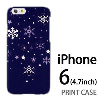 iPhone6 (4.7インチ) 用『1203 雪あられ 紺』特殊印刷ケース【 iphone6 iphone アイフォン アイフォン6 au docomo softbank Apple ケース プリント カバー スマホケース スマホカバー 】の画像