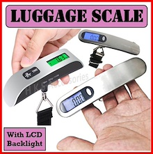 【New Version Readable At Night Time With LCD Backlight】Electronic Digital LCD Travel Luggage Scale