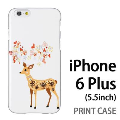 iPhone6 Plus (5.5インチ) 用『0624 幻想的な鹿』特殊印刷ケース【 iphone6 plus iphone アイフォン アイフォン6 プラス au docomo softbank Apple ケース プリント カバー スマホケース スマホカバー 】の画像