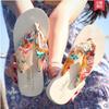 [New]Bohemia flip-flops/Thick bottom anti-slip cool slippers beach shoes