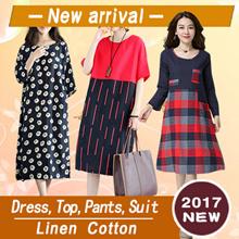 【16/10 BIG PROMO】High Quality Japanese Linen Apparels Cotton Dress Japan Linen / Plus Size Dress