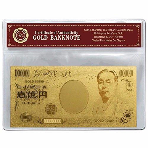 開運 金運アップ 金箔 100、000、000円札 お種銭 バージョン