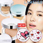 Korean Cosmetics ♥ The Golden Fishery [LANEIGE] NEW Satin Cover Jelly Pact / BB Cushion / Whitening / Pore Control / Anti-aging / AMOREPACIFIC