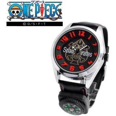 ONEPIECEワンピースワンピースONEPIECEOP009Aログポース付3Dインデックスウォッチ「ポートガス・D・エース」メンズ腕時計wwop00004m