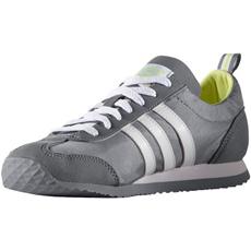 ◆即納◆アディダス(adidas) レトロランニングシューズ VS JOG W グレー/ランニングホワイト/フローズンイエロー AQ1519 【スニーカー シューズ メンズ レディース 靴】