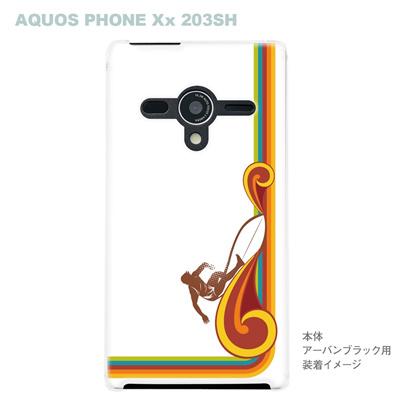 【AQUOS PHONEケース】【203SH】【Soft Bank】【カバー】【スマホケース】【クリアケース】【夏のパラダイス】 08-203sh-ca0072の画像