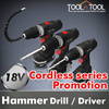★★NEVER AGAIN★★KOREA BEST BRAND 18V Cordless Rechargeable LED Hammer Drill Tool Set/screwdriver / cordless drill siries