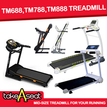 TM-688/TM-788/TM-888 motorized exercise treadmill foldable Music speaker