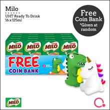 [NESTLÉ®] Milo UHT Chocolate Malt Packet Drink 16x125ml (FREE Coin Bank)