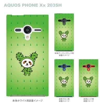 【AQUOS PHONEケース】【203SH】【Soft Bank】【カバー】【スマホケース】【クリアケース】【Clear Fashion】【アニマル】【パンダ】 22-203sh-ca0059の画像