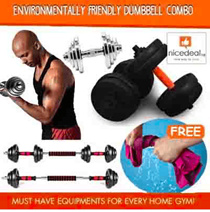 [Free towel]Steel/Chrome/PVC Environmentally friendly dumbbell combo/no bad smell/extender bar