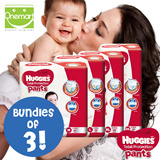 [Bundle Sales][Huggies] Total Protection Diaper Pants (M/L/XL/XXL) 3 per Bundle.