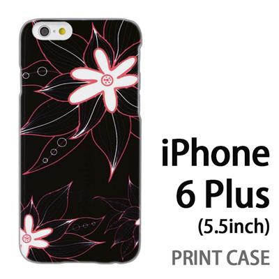 iPhone6 Plus (5.5インチ) 用『0624 黒の花』特殊印刷ケース【 iphone6 plus iphone アイフォン アイフォン6 プラス au docomo softbank Apple ケース プリント カバー スマホケース スマホカバー 】の画像