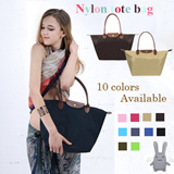 TIME SALE♥Nylon tote bags▶Premium Quality♥ Womens Fashion/ Nylon tote bags/Shoulder bag/ Folding bag/10 colors available