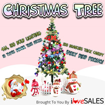 1.5m Full Size Christmas Tree - FREE 10 TYPES DECOR AND LIGHTING - (Immediate Stocks Available) B