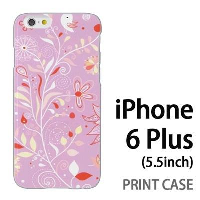iPhone6 Plus (5.5インチ) 用『0624 紫の花』特殊印刷ケース【 iphone6 plus iphone アイフォン アイフォン6 プラス au docomo softbank Apple ケース プリント カバー スマホケース スマホカバー 】の画像