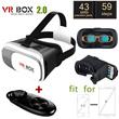 2016 Newest Google Cardboard VR BOX 2.0 II Smartphone Headset 3D Virtual Reality Glasses Helmet Goggle Oculus Rift DK2 Head Mount+Controller