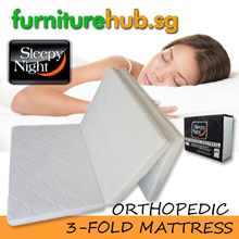 furniturehub.sg Sleepy Night Orthopaedic Foldable mattress | Free Delivery | Available in 3 thickness | Quality Guarantee