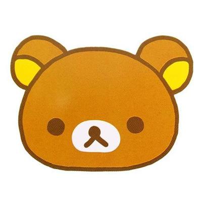 丸眞リラックマ「リラックマフェイス」ダイカットラグ(大)510310300