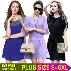 2015 New arrivals/ women's dress/ casual  fashionable style blouses/ long-sleeved chiffon shirts/ high quality and low price dress/ S-6XL size