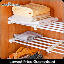 Lowest Price! Adjustable Closet Organizer Rack/ Storage Divider/ Shelves Cabinet Wardrobe