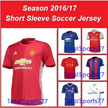 [ New Season Male/Female Soccer Jersey] 2016/17  Manchester United Real Madrid Arsenal Liverpool Chelsea Barcelona Home Away Short Sleeve